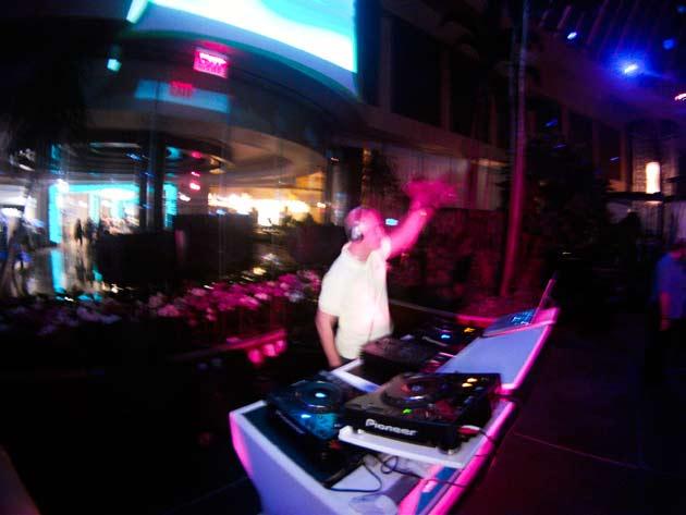 DJ Pushkin spinning at a club