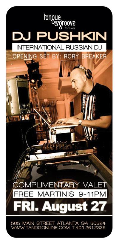 DJ Pushkin, Russian Party Atlanta Georgia