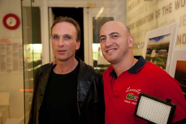 Holywood Actor Peter Greene with cinematographer Alex Pushkin