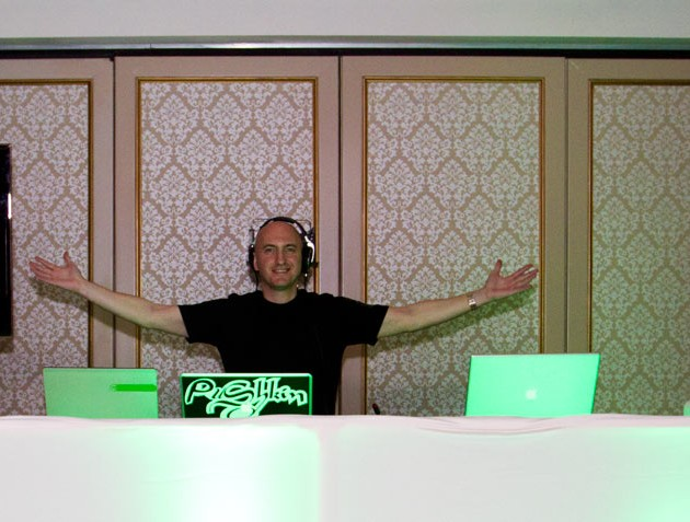 DJ Pushkin in his dj booth