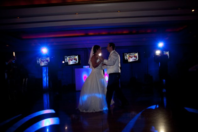 Custom lighting preset for First Dance. Bride chooses color and pattern